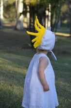 Load image into Gallery viewer, yellow and white cockatoo bonnet