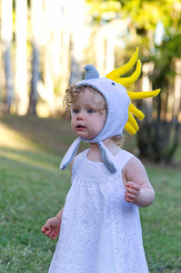 Cockatoo baby bonnet