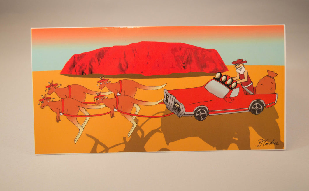 Aussie Santa Christmas card | Aussie Santa in a Ute card | Aussie animals Christmas card | Aussie Santa Uluru card| Aussie Christmas cards
