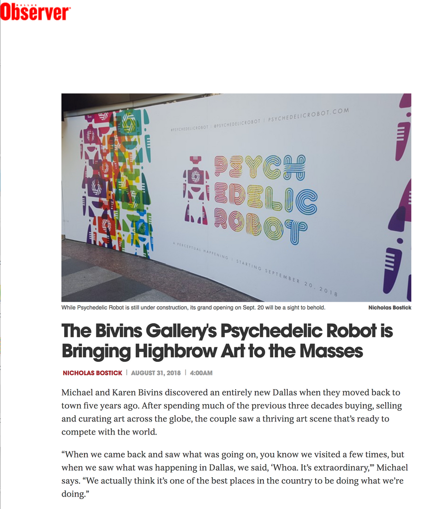 Bivins Gallery's Psychedelic Robot is Bringing Highbrow Art to the Masses