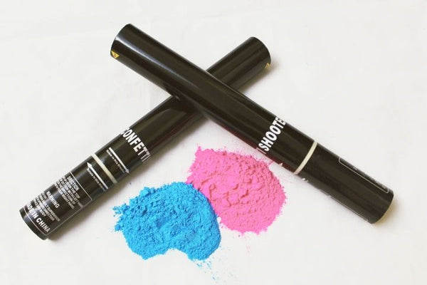 Gender Reveal  Holi Powder Smoke Colour Cannon Pack with 2 pcs - 40 cm