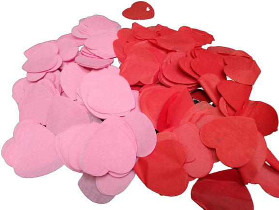 Red & Pink Love Heart Paper Confetti - Approx 700 pcs