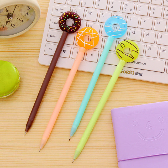 4 Candy Colored Donut Gel Pens