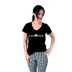 Dog Mum T-Shirt Black