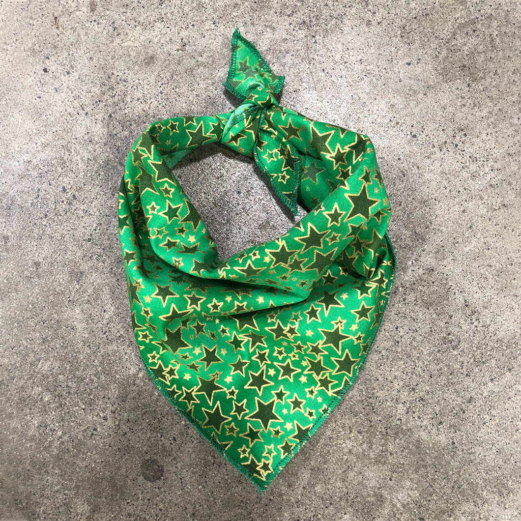 Green Star Dog Bandana