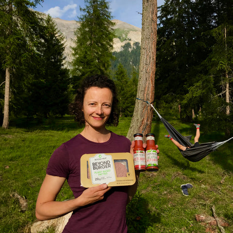 Beyond Meat Burger und Connie's Kitchen Ketchup