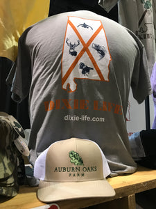 Dixie Life - Alabama SS T-Shirt (Orange, White & Navy logo)