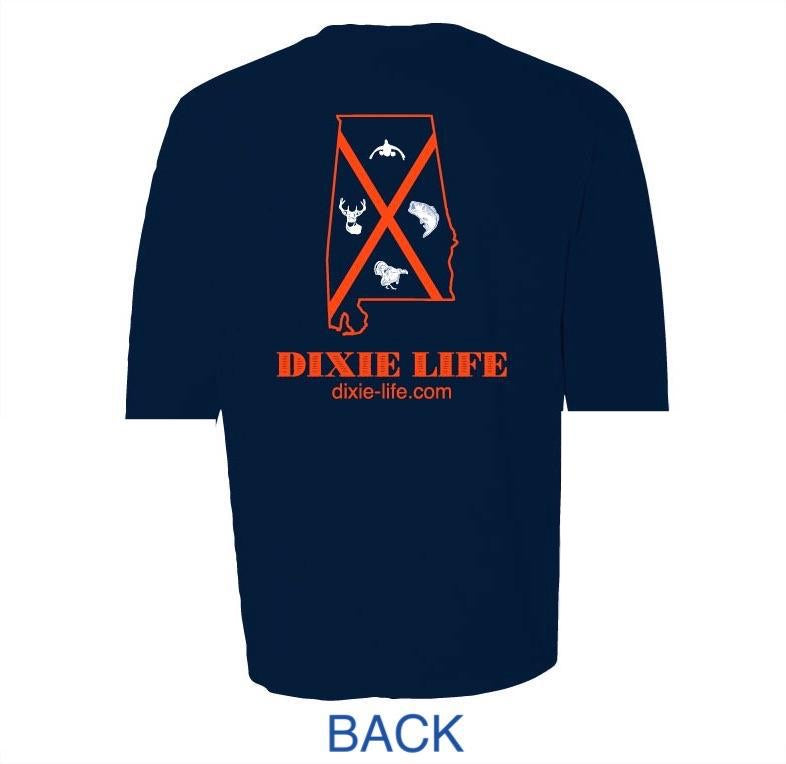 Dixie Life- Alabama T-Shirt SS (Midnight Navy)
