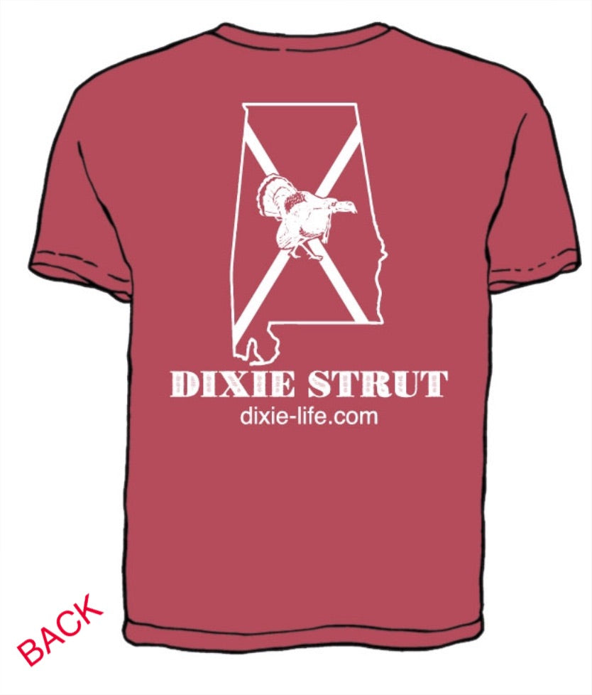 Dixie Strut - Alabama T-Shirt (Crimson)