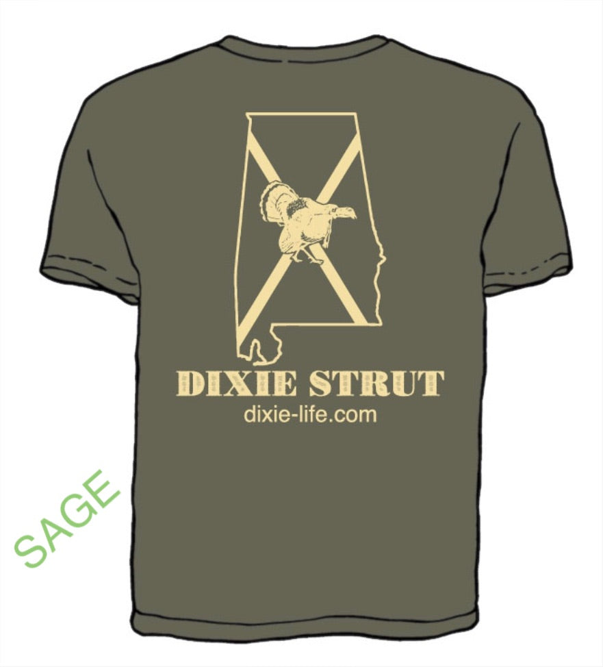 Dixie Strut - Alabama T-Shirt (Sage)