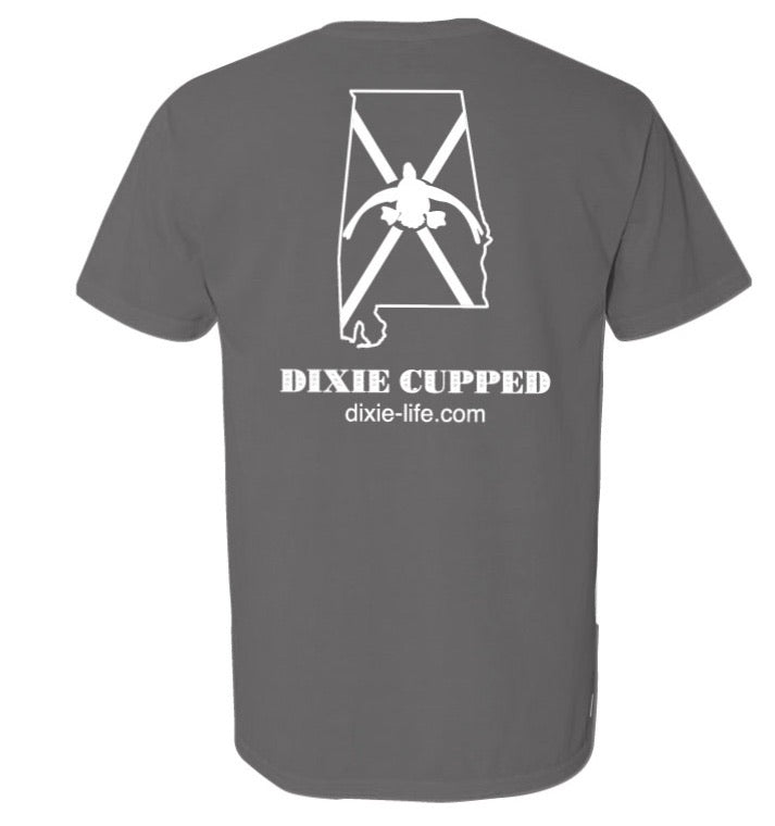 Dixie Cupped - Alabama SS  T-Shirt (Gray)