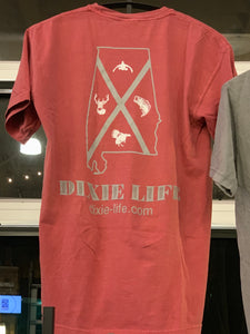 Dixie Life- Alabama T-Shirt SS (Crimson)