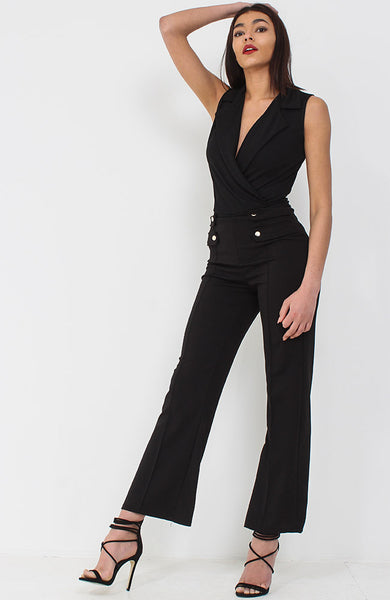 Black Wrap Over Bodysuit