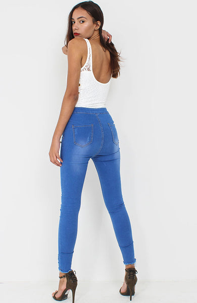 Dark Blue Skinny Denim Jeans