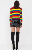 Rainbow Coloured Soft Knit Jumper