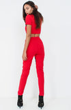 Red Guilty Slogan Crop Top Loungewear