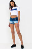 White Originals Slogan Cropped T Shirt