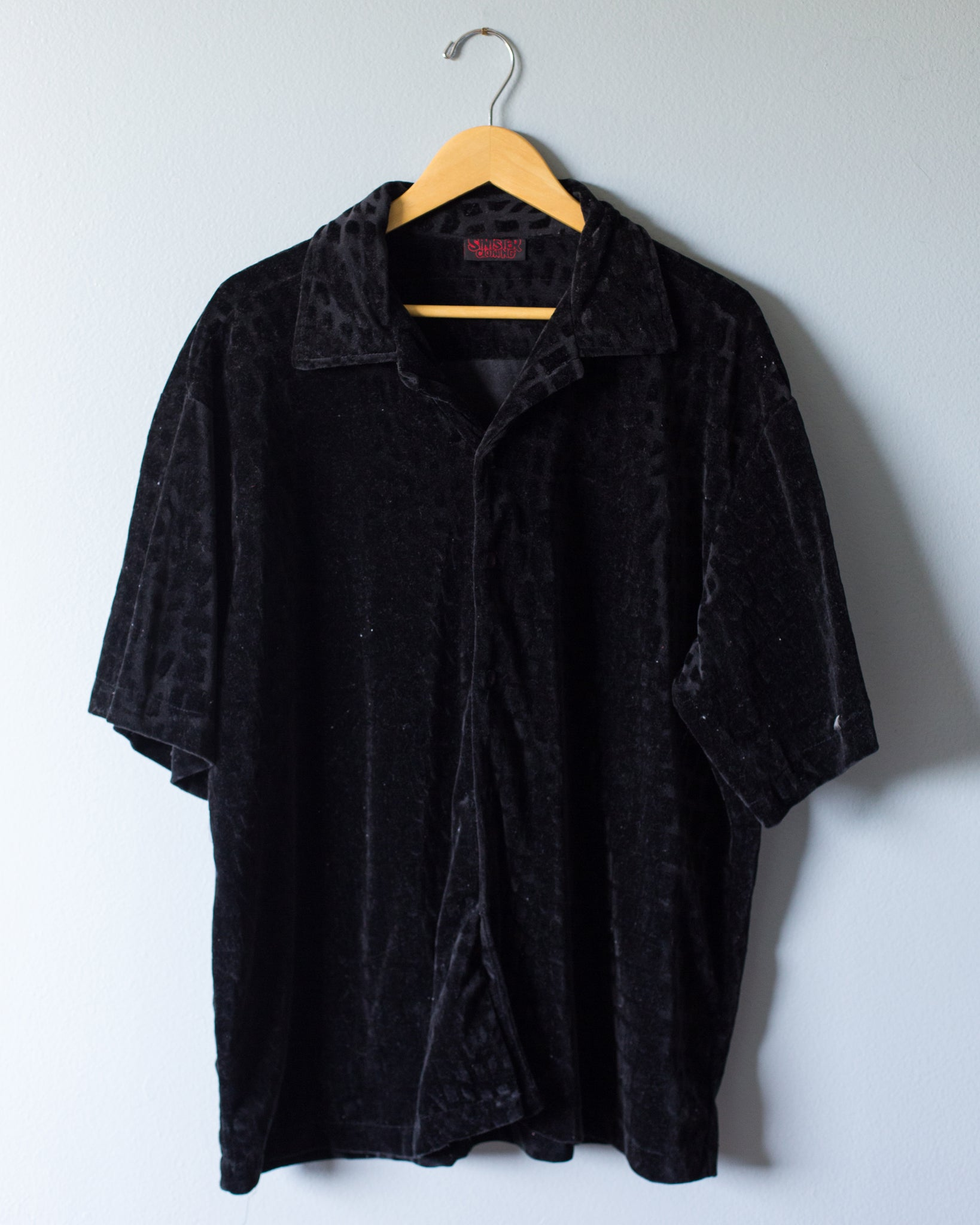 Velvet Button Up