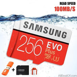 AllBestOf.com ELECTRONIC 100% Original SAMSUNG EVO Micro SD card Class10 TF card 32gb 64gb 128gb 256gb 100Mb/s memory card for smartphone/table PC/Camera