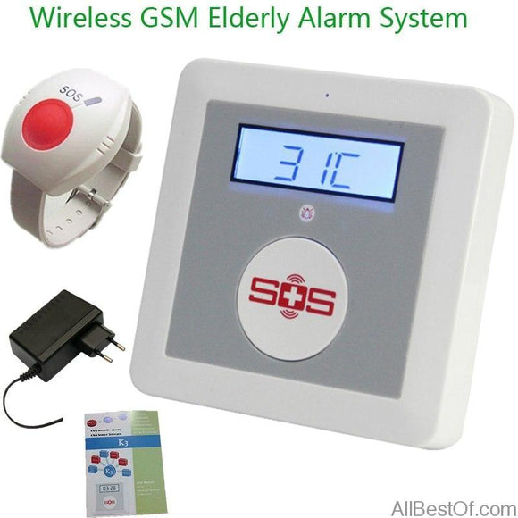 AllBestOf.com ELECTRONIC Alarm Systems Security Home Wireless GSM Alarm System Home Security for Elderly Helper With Emergency Panic Button K3