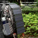 AllBestOf.com ELECTRONIC SunPower folding 10W Solar Cells Charger 5V 2.1A USB Output Devices Portable Solar Panels for Smartphones