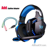 AllBestOf.com Gamers Blue and Cable 3.5mm Gaming Headset Gamer PC Headphone Gamer Stereo Gaming Headphone With Microphone Led For Computer