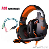 AllBestOf.com Gamers Orange and Cable 3.5mm Gaming Headset Gamer PC Headphone Gamer Stereo Gaming Headphone With Microphone Led For Computer