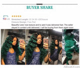 AllBestOf.com HAIR 10-26 inch Ombre Brazilian Straight Hair Bundles 4Pcs One Pack Dark Root 1B/Green Human Hair Pre-Colored