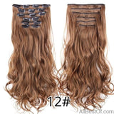 AllBestOf.com HAIR 12 16 Clips 22inch 140G Long Body Wave Clip In Hair Extensions Synthetic 20 Colors Ombre blond Black Brown High Temperature