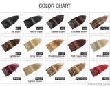 AllBestOf.com HAIR 16-24 inch 10 Colors Brazilian Straight Machine Made Remy 100% Human Hair Clip In #613 light Blonde Color