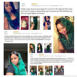 AllBestOf.com HAIR 1B/Green Two Tones Ombre Human Hair Weave Brazilian Body Wave 3 Bundles Pack With Lace Closure
