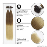 "AllBestOf.com HAIR 1g/s 16""-24"" 100% Real Remy Fusion Human Hair Extension Red Keratin U Tip 50pcs/pac"