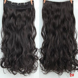 "AllBestOf.com HAIR #2 Hair 22"" 20 Colors Long Wavy High Temperature Fiber Synthetic Clip in Hair Extensions for Women"
