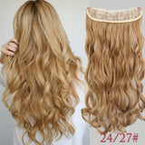 "AllBestOf.com HAIR 24/27 Blonde Hair 22"" 20 Colors Long Wavy High Temperature Fiber Synthetic Clip in Hair Extensions for Women"