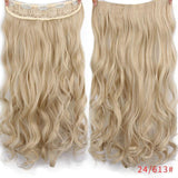 "AllBestOf.com HAIR 24/613# Hair 22"" 20 Colors Long Wavy High Temperature Fiber Synthetic Clip in Hair Extensions for Women"