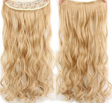 "AllBestOf.com HAIR 27/613# Hair 22"" 20 Colors Long Wavy High Temperature Fiber Synthetic Clip in Hair Extensions for Women"