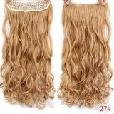 "AllBestOf.com HAIR 27# Hair 22"" 20 Colors Long Wavy High Temperature Fiber Synthetic Clip in Hair Extensions for Women"