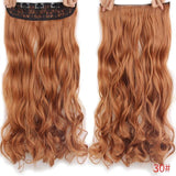 "AllBestOf.com HAIR #30 Hair 22"" 20 Colors Long Wavy High Temperature Fiber Synthetic Clip in Hair Extensions for Women"