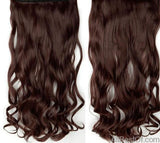 "AllBestOf.com HAIR #33 / 18inches / China 18-28"" Long Clip In Hair Extensions Synthetic 1 Piece Blond Black Brown 3/4 Full Head 9 colors"