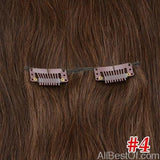 AllBestOf.com HAIR #4 / 16 inches / 100g/Set >=25%, 6 Months 16-24 inch 10 Colors Brazilian Straight Machine Made Remy 100% Human Hair Clip In #613 light Blonde Color