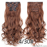 AllBestOf.com HAIR 4-30 16 Clips 22inch 140G Long Body Wave Clip In Hair Extensions Synthetic 20 Colors Ombre blond Black Brown High Temperature