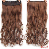 "AllBestOf.com HAIR 4/30HL Hair 22"" 20 Colors Long Wavy High Temperature Fiber Synthetic Clip in Hair Extensions for Women"