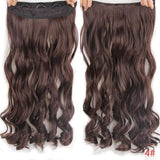 "AllBestOf.com HAIR #4 Hair 22"" 20 Colors Long Wavy High Temperature Fiber Synthetic Clip in Hair Extensions for Women"