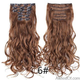 AllBestOf.com HAIR 6 16 Clips 22inch 140G Long Body Wave Clip In Hair Extensions Synthetic 20 Colors Ombre blond Black Brown High Temperature