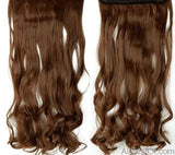 "AllBestOf.com HAIR #6 / 18inches / China 18-28"" Long Clip In Hair Extensions Synthetic 1 Piece Blond Black Brown 3/4 Full Head 9 colors"