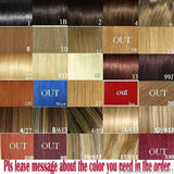 "AllBestOf.com HAIR #60 Color 100g-200g 16""-24"" Machine Made Remy Hair One Piece Set 5 Clip-in 100% Human Hair Extensions Natural Straight Hair"