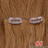 AllBestOf.com HAIR #8 / 16 inches / 160g/Set >=25%, 6 Months 16-24 inch 10 Colors Brazilian Straight Machine Made Remy 100% Human Hair Clip In #613 light Blonde Color