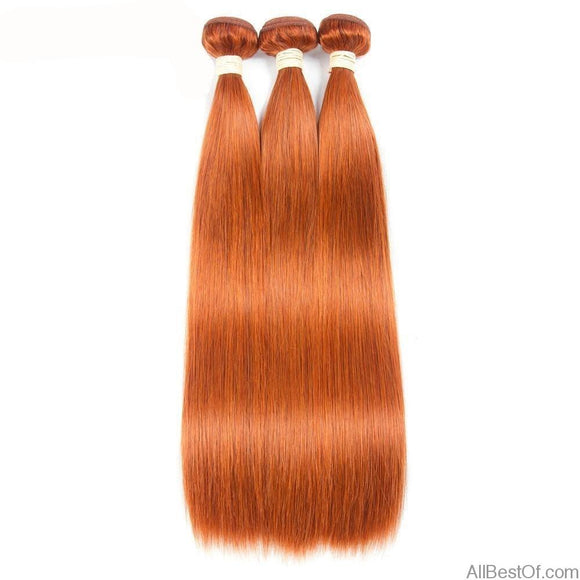 AllBestOf.com HAIR 8-24inch Pre-Colored Human Hair Weave Straight #350 Colored Brazilian 100% Human Hair 3 Bundles