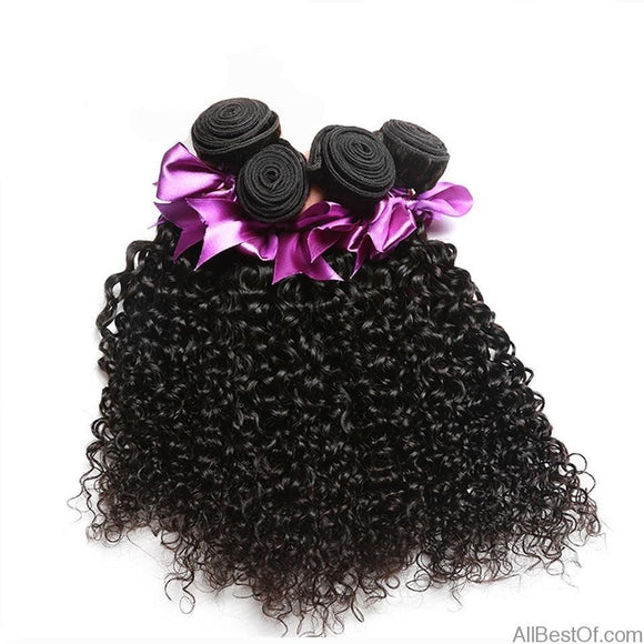AllBestOf.com HAIR 8-28inch Malaysian Kinky Curly Human Hair Bundles Natural Color Hair Weaving 1/3 Pcs