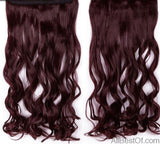"AllBestOf.com HAIR #99J / 18inches / China 18-28"" Long Clip In Hair Extensions Synthetic 1 Piece Blond Black Brown 3/4 Full Head 9 colors"